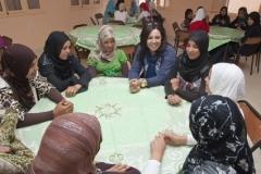 Visite de Mouna Fettou et Narjiss Nejjar aux foyers d'El Jedida